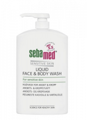 SEBAMED LIQUID FACE&BODY WASH PESUNESTE  PUMPPUPULLO 1000 ML